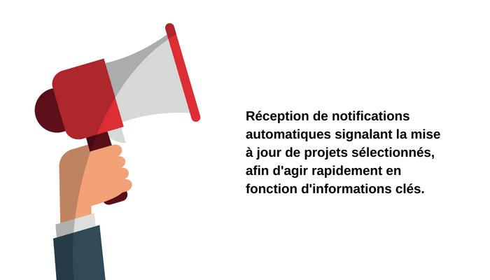 Vendeurs d'équipements pour la transformation industrielles, recevez des notifications pour connaitre les dernières avancées des projets capex suivis