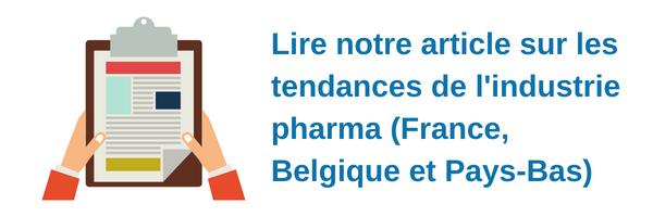 Les tendances du secteur pharmaceutique en France, Belgique et aux Pays-Bas